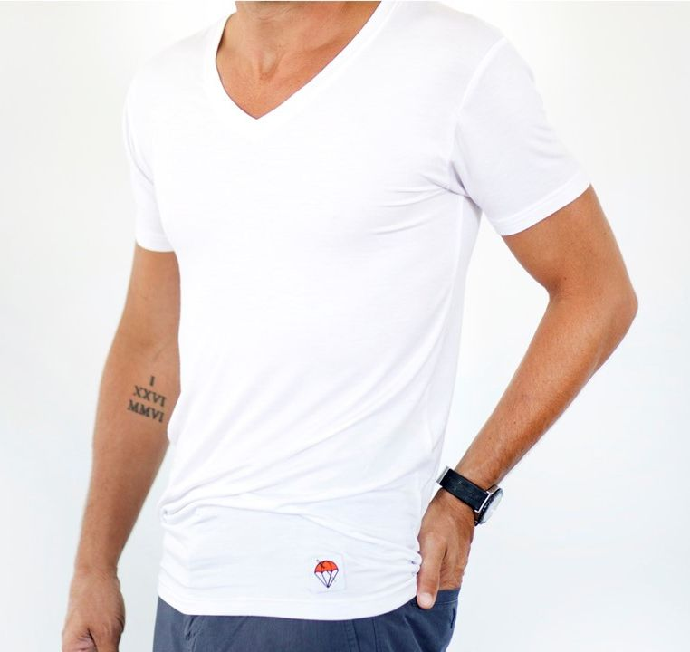 Jumper Threads White V-Neck Undershirt Untucked