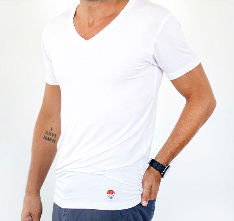 Jumper Threads White V-Neck Undershirt Untucked
