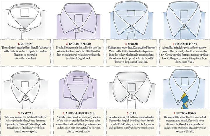 Mens Eyelet Collar Dress Shirts