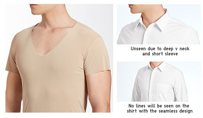 uniqlo-mens-seamless-v-neck-undershirt-beige