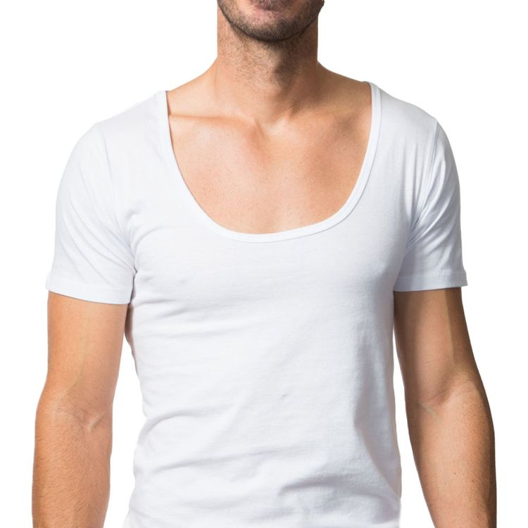 undershirt for under t shirts wide deep crew neck