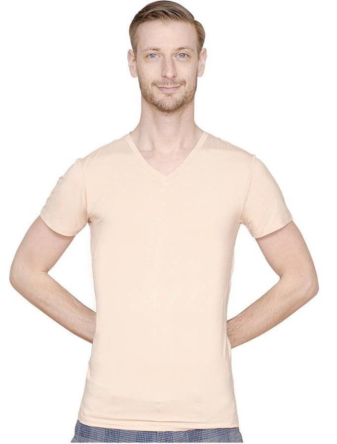 Ettonmire light nude undershirt for tall skinny men