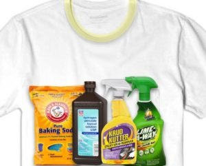 How to remove yellow stains from t shirt collars for Remove yellow stains from white shirts