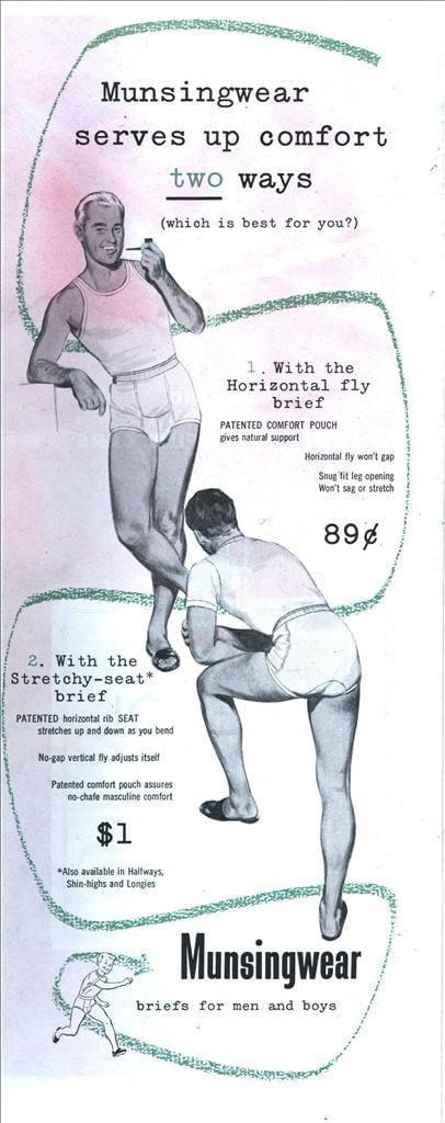 underwear briefs. horizontal fly history flashback