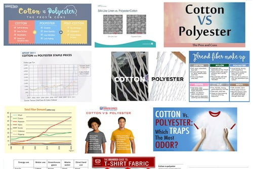 If you search for polyester vs cotton on Google, you will come across many, many results.