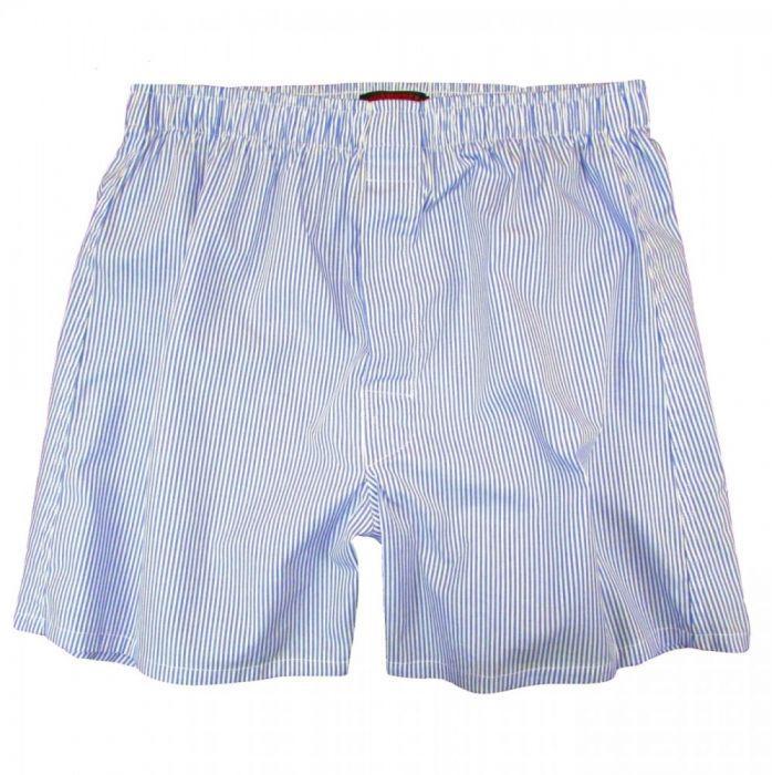 broadcloth underwear boxer short blue banker stripe