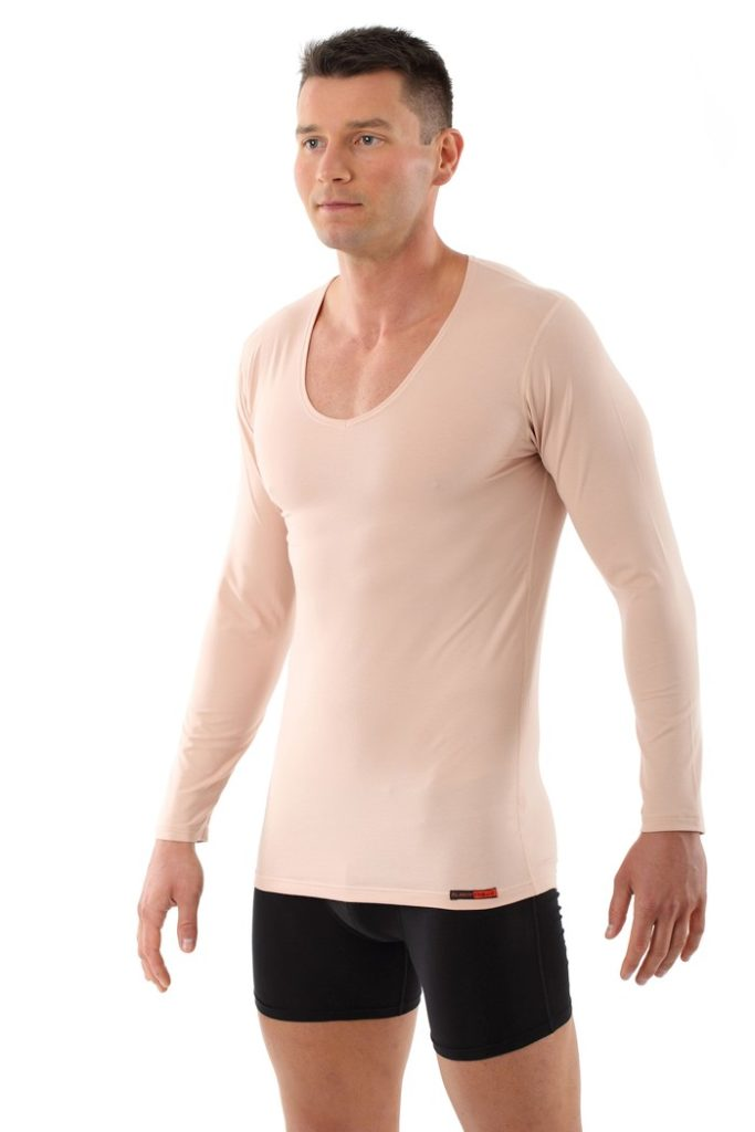 Albert Kruez light flesh tone long sleeve undershirt