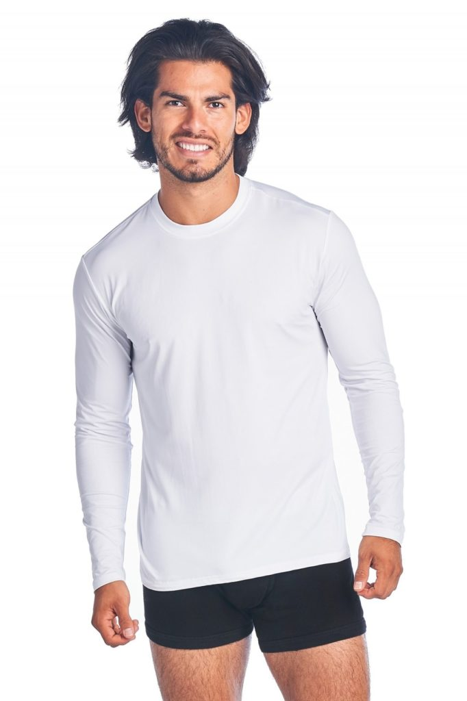 RibbedTee CoolNylon Long Sleeve Undershirt. Wear under Scrubs