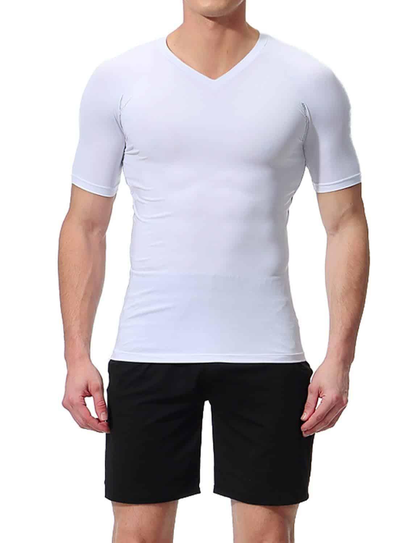 Lavento White V-Neck Moisture Wicking Undershirt