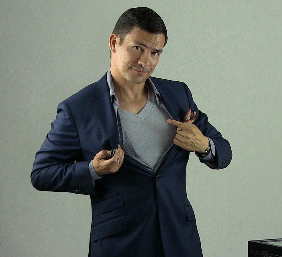 Antonio Centeno: More confident wearing an undershirt