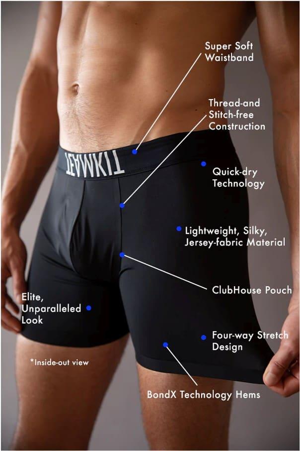 Teamkit Men's Underwear Brand: Features
