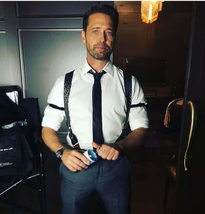 Jason Priestley wearing SpenceUp Suspenders