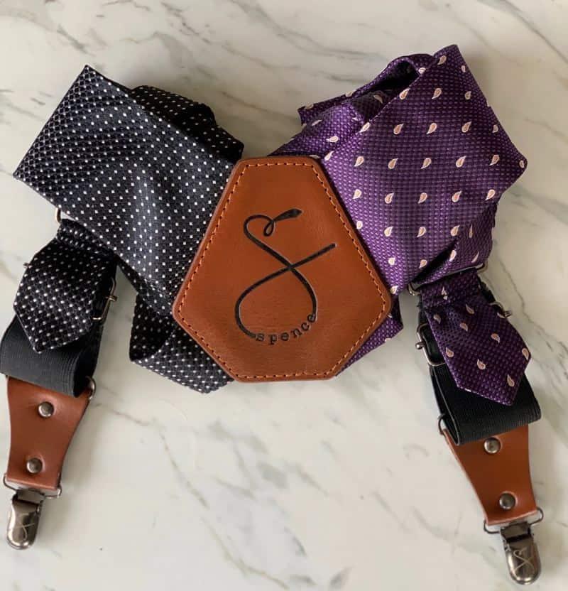 SpenceUp Suspenders: Purple & Black