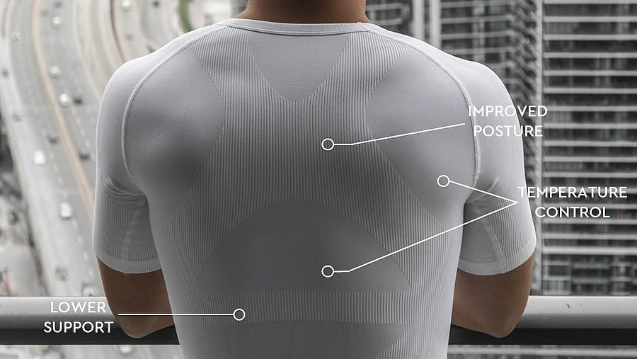 CoreWear undershirt. Posture support, Temperature control, lower back support