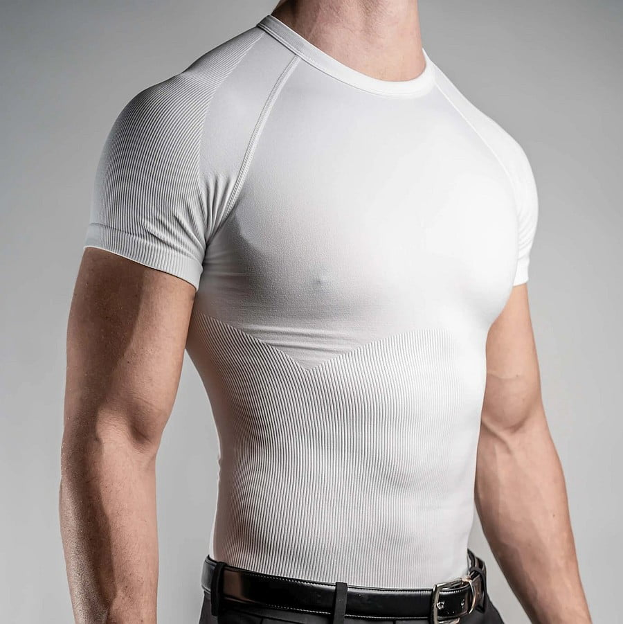 CoreWear slimming undershirt. White, crew neck