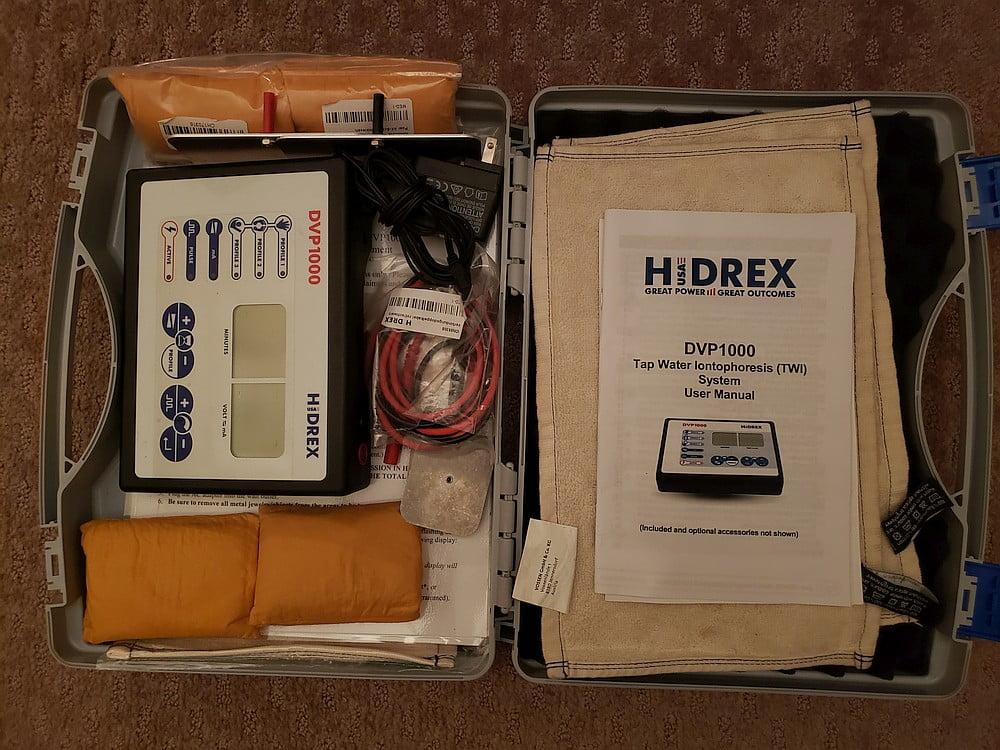 Hidrex DVP1000 Iontophoresis - Full kit