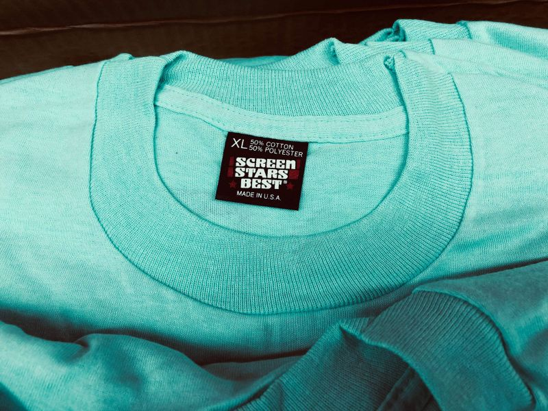 NOS black label t-shirts for sale | turquoise