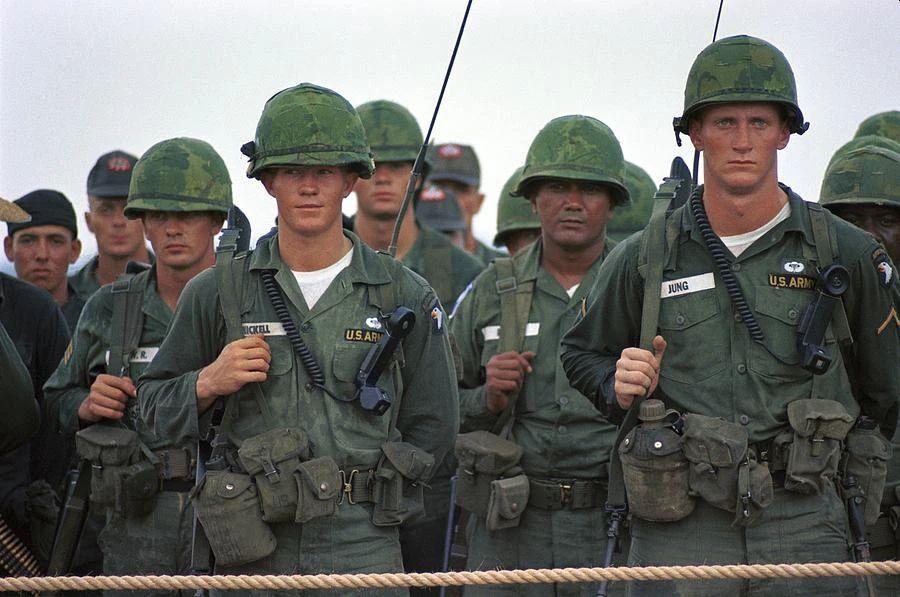 Military uniforms: wearing crew neck undershirt