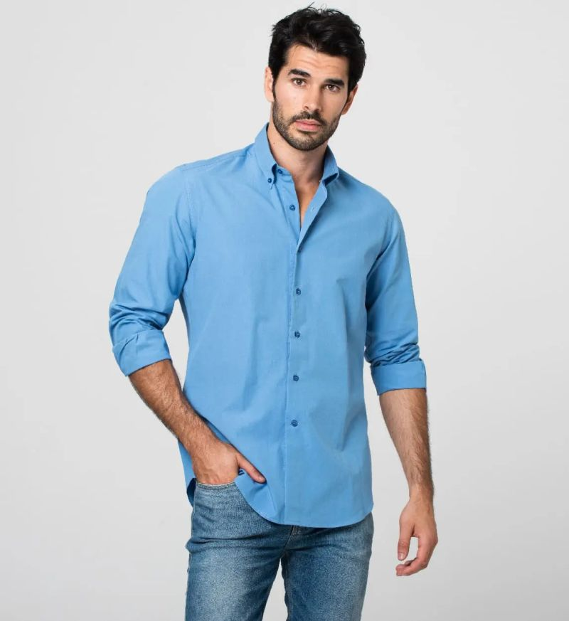 Sutran sweat mark resistant button up shirt