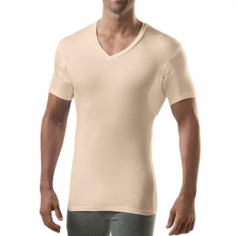 thompson tee slim fit beige-nude sweat-proof undershirt