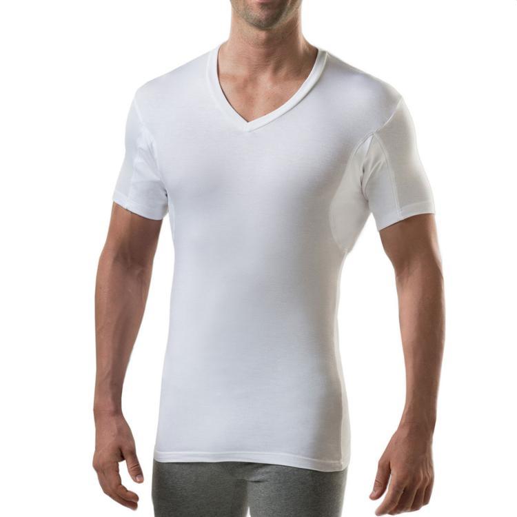 thompson tee slim fit deep v-neck sweat-proof undershirt