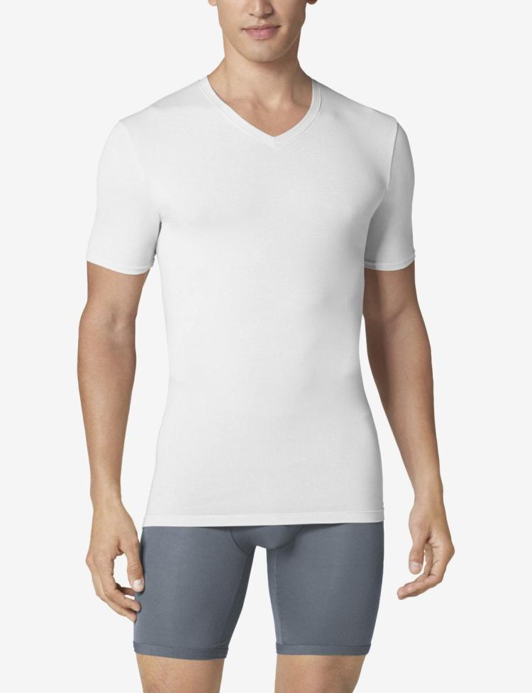 tommy john white v-neck undershirt