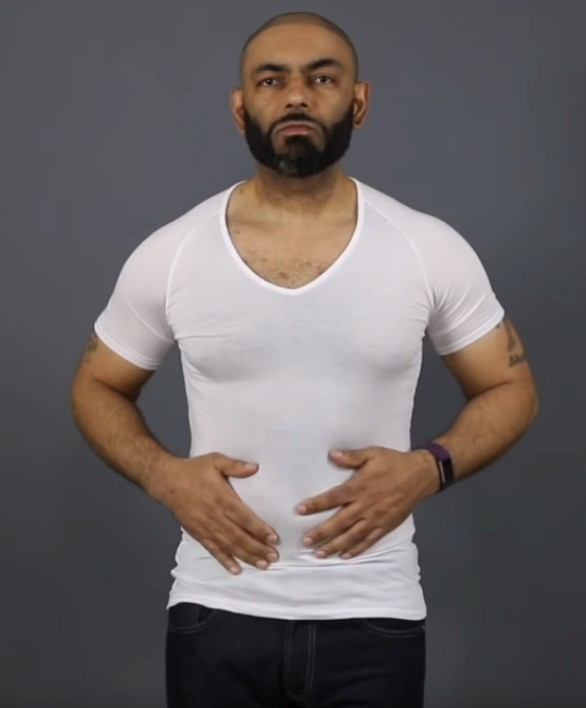 An undershirt should be close fitting. This is not a t-shirt.
