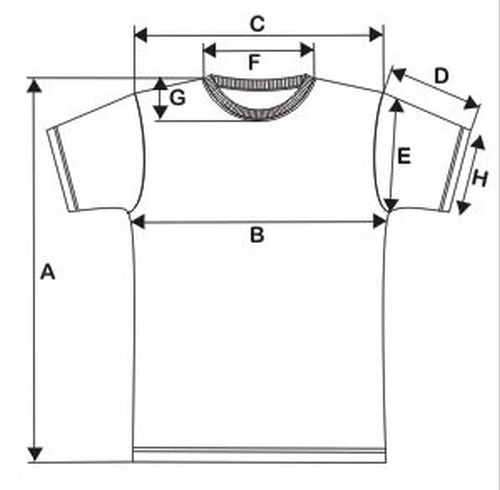 undershirt measurements chart