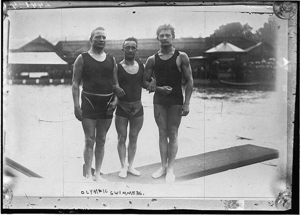 Early Tank Tops: Men wearing