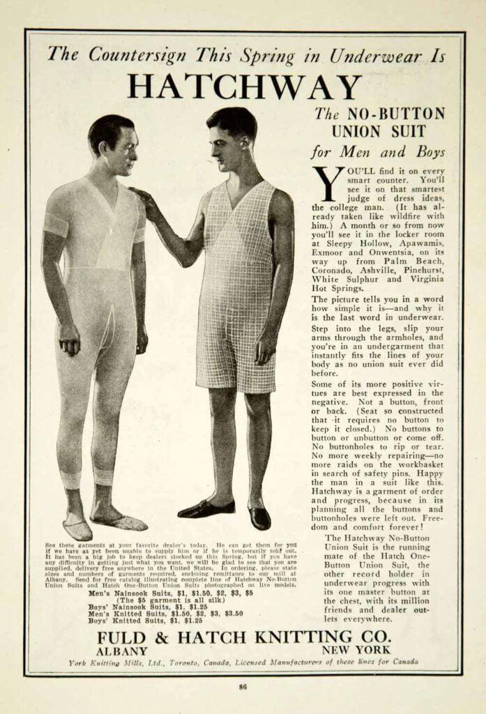 Hatchway vintage Union Suit