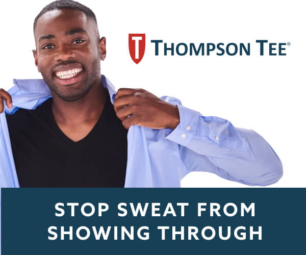 Thompson Tee. Stop Sweat From Showing Through